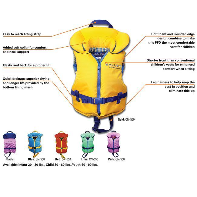 bonne réputation meilleure valeur nouveau style de vie Veste de Flottaison pour Enfants (30 à 60 lbs)- Nimbus de Salus